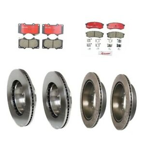 Front & Rear Brake Kit Rotors & Pads for 13WL Brembo For Toyota Sequoia 01 - 07