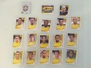 STICKERS WM 2002 BRASIL RARES