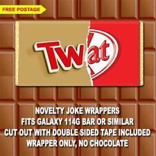 TWAT 1 - Chocolate Bar Wrapper Joke Funny Rude Gift Birthday Novelty Easter