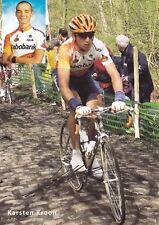 CYCLISME carte cycliste KARSTEN KROON équipe RABOBANK