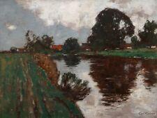 Carl Küstner (*1861) Öl-Gemälde alt antik Impressionismus Jugendstil Landschaft