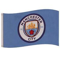 Official MANCHESTER CITY FC Flag  5ft x 3ft Man City Club Crest Football Gift