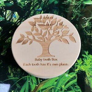 Baby Tooth Storage Milk Tooth Organizer Wooden Fairy  Holder Saver For Kids Box