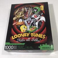 Looney Tunes 1,000 Piece That's All Folks' Daffy Bugs Tweety Jigsaw Puzzle