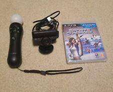 Sony PlayStation PS3 Move Motion Black Controller, Eye Camera, Sports Champions
