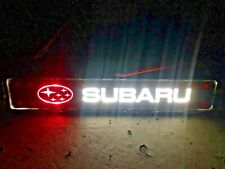 SUBARU FRONT GRILLE BADGE LED LOGO GRILL EMBLEM
