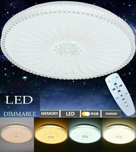 Dimmable RGB 48W LED Ceiling Light Chandeliers Bedroom Lamp W/Remote Control