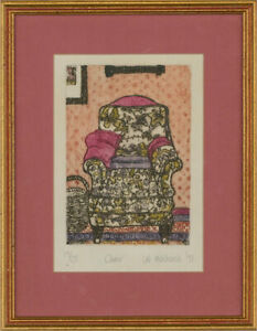 Lal Hitchcock - 1991 Etching, Study of a Chair