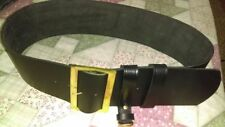 Leather Santa Claus Belt w Solid Brass Buckle hand Crafted/ Pirate