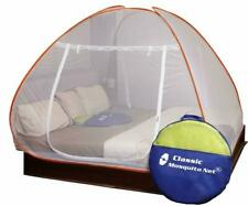 Mosquito Net Foldable King Size Double Bed With Saviours - (Orange) UK