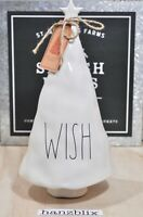 "Rae Dunn WISH Christmas Tree Figural Tabletop Decor Ceramic 12"" height NEW '19"