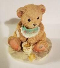 """Teddy Bear Figurine - Benji Life is Sweet P. Hillman appx. 2""""T x 2""""W x 2""""L Vg"""