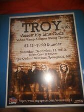 Troy * Rare Concert Flyer Mini Poster *Springfield, Mo 12/10/2010