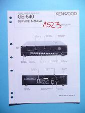 Manuel de reparation pour Kenwood ge-540, original