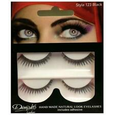 Dimples False Eyelashes 123 With Glue 2 Pairs Handmade Natural LOOK