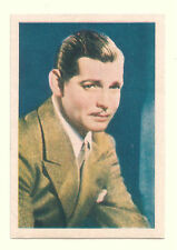 1936 Spanish Nestle Film Star Paper Thin Stamp Sticker  #51 Clark Gable