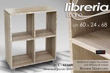 LIBRERIA H68*60*24 SCAFFALE MOBILETTO MODERNA ROVERE SBIANCATO LEGNO TCC 737763