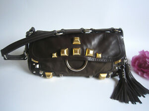 Beautiful Prada handbag with golden studs. 100% authentic.