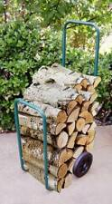 Upp madera carrito de chimenea carro para Leña cesta carretilla