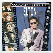 "Elton JOHN Vinyl 45T 7"" WRAP HER UP - RESTLESS -THE ROCKET RECORD COMPANY 884387"