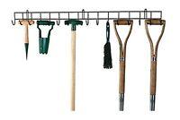 Tool Hanging Rack Garden Tools Holder Organiser Wall Mount Hook Metal Storage