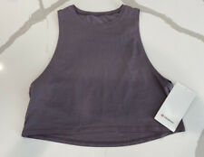 Lululemon CUT BACK CROP TANK Graphite Purple SIZE 4 Brand New!!!