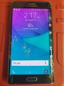 OEM Samsung Galaxy Note EDGE N915V LCD with Digitizer and Frame CRACKED LENS