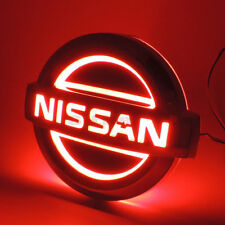 Red Auto 5D LED Car Tail Logo Light Badge Emblem For Nissan X-TRAIL TIIDA