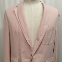 NWT Polo Ralph Lauren Sport Coat Blazer Pink 44 Cotton Linen Jacket Unstructured