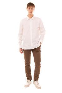 RRP €240 JIL SANDER Shirt Size 44 / 17 1/2 / XL White Button-Up Regular Collar