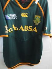 South Africa 2011 WC Rugby Union Away National Shirt adult medium (43981)