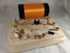Assembled and Wired Professional Grade Crystal Radio Kynar Premium Coil
