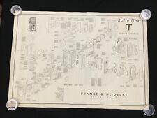 Schematic Rolleiflex 2.8 C TLR Franke /& Heidecke OEM Poster Exploded Diagram
