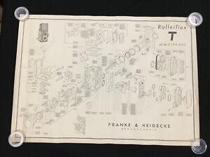Exploded Diagram / Schematic Rolleiflex T Franke & Heidecke OEM Poster 2.100.000