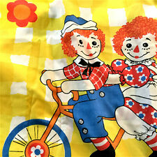 RARE VINTAGE 1970s RAGGEDY ANN & ANDY TWIN BED FLAT COTTON TOP SHEET-SHIPS FREE!