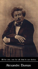 Alexandre Dumas photo by Nadar with quote poster