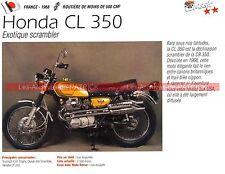 HONDA CL 350 ( CL350 ) 1968 Fiche Moto 000184