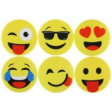 SET OF 6 VINYL EMOJI DESIGN PLACEMATS /TABLE PLACE MAT EMOTICON