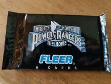 Paquet Fleer Trading Cards Power Rangers The movie  /Pack de 6 cartes, scellé