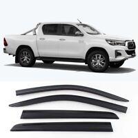 Smoke Weather Shields Visors 4pcs for 07/2015 ~ 2020 Toyota Hilux SR5 Double-Cab
