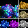 1M 10LED Fairy String Hanging Icicle Snowing Curtain Light Outdoor Xmas Decor