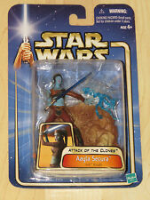 Star Wars Ep II AOTC #11 Aayla Secura Jedi Knight w/ Lightsaber & Base NOSC