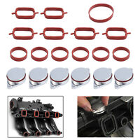 6X 33mm Swirl Flap Blanks +Intake Manifold Gaskets Set For BMW M47N M57N M57TU