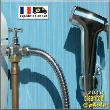 kit douchette hygiène + 1 robinet 3 voies hémorroïde ablution toilette wc