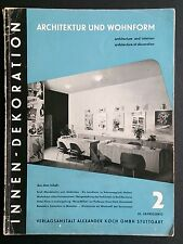 INNEN-DEKORATION 1952/12 Architecture Interior Design Erich MENDELSOHN Modernism