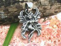 Elfe Chaînes Pendentif 925 Sterling Argent Onze Fée Ange Créatures Mythiques