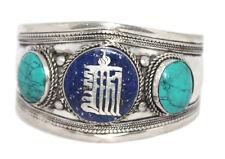 Turquoise Bracelet Boho cuff Bracelet Silver Bracelet Tribal Bracelet Lapis Om A