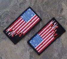 ZHT GEAR: AMERICAN ZOMBIE HANDS DISTRESSED SET FLAG PATCH ~WALKING DEAD~ HUNTER
