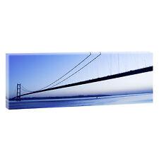 Humber Bridge Panoramabild auf Leinwand Poster Kunstdruck XXL 120 cm*40 cm 043
