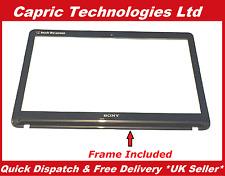 """Genuine 15.6"""" Sony Vaio SVF1521C2EW Touch Screen Digitizer Glass Bezel Frame"""